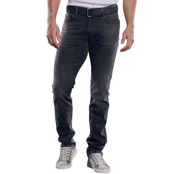 Soft-Touch-Denim Jeans mit rauer Optik