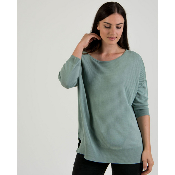 Oversize-Pullover in Seegras