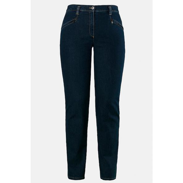 Jeans Mony, querelastisch, leicht konisches Bein