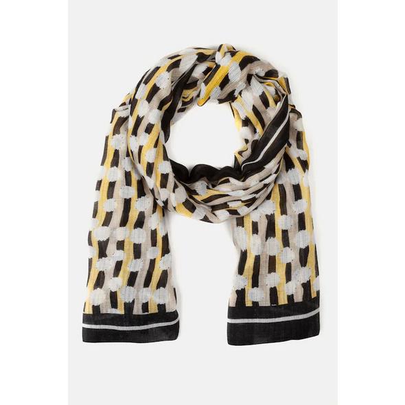 Schal, grafisches Muster, angenehm luftig