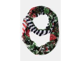 Ulla Popken Loop, maritime Streifen, Blütenmuster - Große Größen