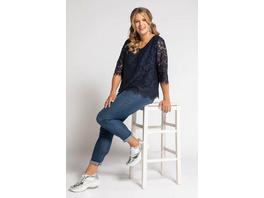 Shirt, doppellagig, Classic, Blütenspitze, Jerseytop